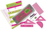 Helix Oxford Clash Maths Set - Pink/Green